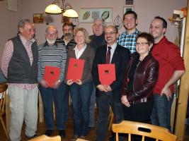 Mitgliederversammlung und Ehrung langjähriger Mitglieder der SPD Bad Neustadt im Januar 2011
