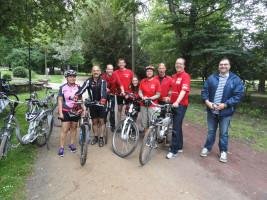 """Die """"Roten Radler"""" der SPD Bad Neustadt mit Markus Rinderspacher"""