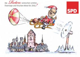 Die Weihnachtskarte der SPD Bad Neustadt von 2011