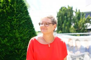 unsere Bundestagskandidatin Sabine Dittmar MdB in Bad Neustadt (Foto: Jan Marberg)