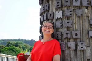 unsere Bundestagskandidatin Sabine Dittmar (MdB) in Bad Neustadt (Foto: Jan Marberg)