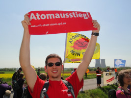 Janis Heller bei der Anti Atom Demo in Grafenrheinfeld