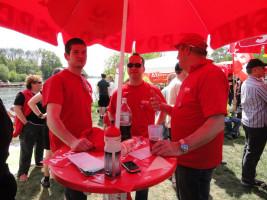 Der Infostand der SPD auf der Anti Atom Demo war gut besucht