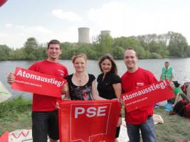 Die Jugend der SPD (von links: Janis Heller, Marietta Eder, Doris Aschenbrenner und Matthias Kihn)