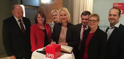 Bundesministerin Schwesig in Mellrichstadt